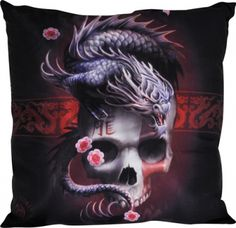 Décoration Intérieur Gothique | Coussin ANNE STOKES - Dragon Skull - Coussins - Rock A Gogo