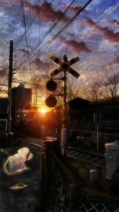 Background and Wallpaper by 特に無し Fantasy Landscape, Landscape Art, Fantasy Art, Anime Scenery Wallpaper, Cartoon Wallpaper, Sky Anime, Anime Art, Pretty Wallpapers, Japanese Art