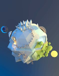 #LOWPOLY https://www.behance.net/gallery/16185437/Little-planet-2