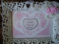 French Cottage Love Frame