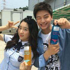 Sungjae with School 2015 cast members