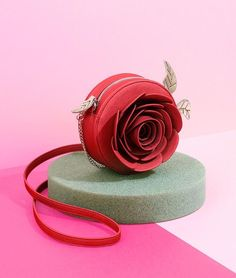 Disney x Danielle Nicole – Beauty & the Beast Collection – Enchanted Red Rose Crossbody Purse