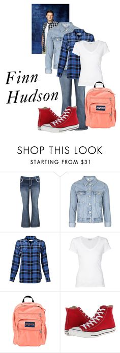 """""""Glee - Finn Hudson"""" by fangindiegirl on Polyvore featuring maurices, Topshop, Equipment, James Perse, JanSport, Converse, glee, corey and finn"""