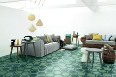 Paola Navone for Bisazza Contemporary Cement Tiles.