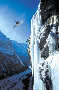 Snowboarding into a Base Jump