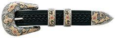 "Vogt Silversmiths 1"" Top Hand Belt Buckle - VT071-310-5"