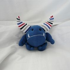 love the big horns do you think this Sock Monster plushie wants to be a viking ! More