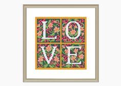 Cross Stitch Pattern,modern cross stitch, LOVE cross stitch pattern - Instant Download PDF by MillieCooperPatterns on Etsy
