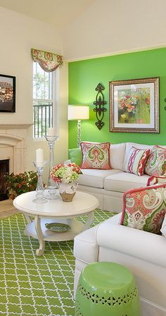 Cool green living room wall to inspire you living room Living Room Without Tv, Next Living Room, Fresh Living Room, Living Room Themes, Casual Living Rooms, Ikea Living Room, Living Room Photos, Eclectic Living Room, Shabby Chic Living Room