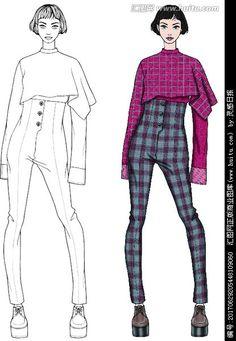 Fashion Design Sketchbook, Fashion Design Drawings, Fashion Sketches, Fashion Illustration Template, Fashion Illustration Dresses, Fashion Figures, Fashion Models, Fashion Figure Drawing, Fashion Design Template