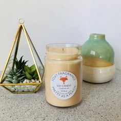 Pretty as a Peach Soy Candle – foxybrand Soy Candles, Candle Jars, Brighten Your Day, Fragrance Oil, Peach, Pretty, Handmade, Candle, Peaches