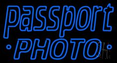 Blue Passport Neon Sign