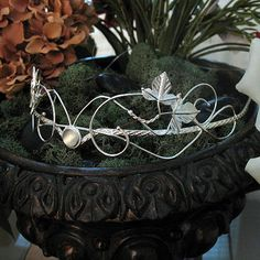 Woodland Bridal Circlet Wedding Headpiece Gemstone door Camias