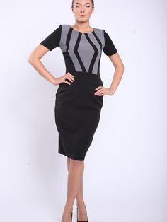 Dámske šaty STREET VOGUE - čierna-šedá