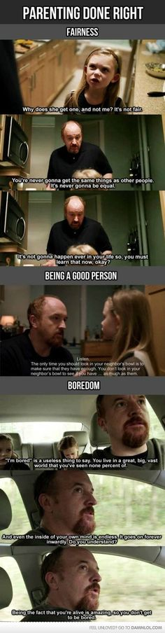 Parenting Lessons from Louie CK ,