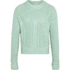 Knitwear ❤ liked on Polyvore featuring tops, sweaters, green jumper, green top, knitwear sweater and green sweater