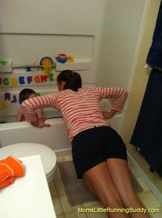 Mommys Mundane Workout  - Great ways to get a little workout in while cleaning house, watching kids and such. Cool Ideas!