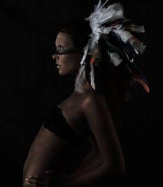 Alanna O'Brian Photography. Alexia Hazeldine Hair. Dan Swedberg makeup. Feather Headress Indian Photoshoot
