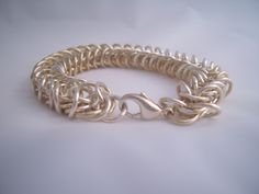Box chain mail, 1.5mm wire, 7mm rings. Fully soldered. Made by Janet Woods-Lennon