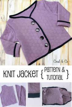 Free Knit jacket pattern and tutorial for girls