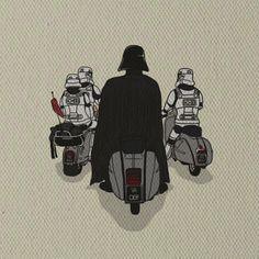 Darth Vader,  Storm troopers & Vespa