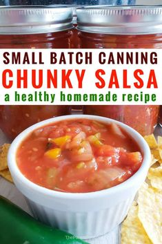 - Recipe made 5 pints of salsa, very sweet. I will use more hot peppers next time. jm Homemade Chunky Salsa Recipe for Canning That's Farm Fresh and Delicious Salsa Canning Recipes, Pressure Canning Recipes, Canning Salsa, Canning Tips, Pressure Cooking, Homemade Canned Salsa, Homemade Chunky Salsa, Easy Chunky Salsa Recipe, Homemade Recipe