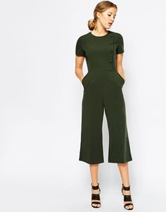 ASOS Military Jumpsuit with Button Detail
