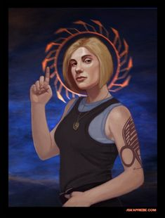 "SF Saints 4 - Kara Thrace - Battlestar Galactica. Project ""Stellar"" by Jska Priebe."