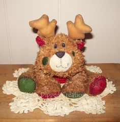Cheery Cheeks, the Scented Wax Dipped Reindeer!!