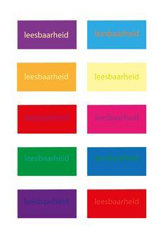 Door een tekst op een achtergrond te zetten kan het beter of slechter leesbaar worden. Is er tussen de kleuren een groot contrast dan is het goed leesbaar. Is er weinig contrast tussen de kleuren dan is het minder goed leesbaar.