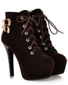e854c172d401 High heels ankle boots Brown Heels