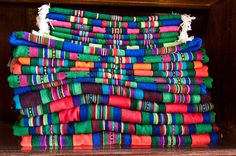 Striped cloth made of wool on the loom - typical for regions of Łowicz and Opoczno in Poland Polish Folk Art, Poland, Loom, Embroidery, Pattern, Handmade, Clothes, Outfits, Needlepoint