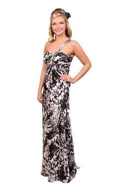 beaded animal print prom dress
