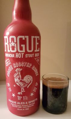 Rogue Sriracha Hot Stout is a 5.7 ABV Chile Beer.  Appearance is virtually black and the nose roasted malt and sriracha.  The flavor follows, sriracha sauce layered on top of a stout.  Sriracha is an excellent hot sauce and it has risen to cult status so it's not surprising to see it in the beer world, particularly  with Rogue.  Is it a novelty?  Of course.  However, it's done nicely, the stout backdrop is executed perfectly so it's something more than just a silly gimmick.