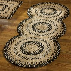 """Cornbread Rug Runner - 30"""" x 72"""" - Our Cornbread Rug Runner from Park Designs is made from cotton and braided in a beautiful pattern. This durable rug features beautiful shades of cream, tan, and black. As with all handmade items, each rug will vary slightly, giving it that much sought after handcrafted appeal."""