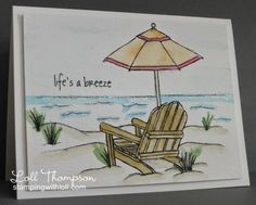 Stamping with Loll [what i like most about this card is the water technique - I want to use it with SEASIDE SKETCHES]