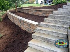 Could your home do with a little more garden landscaping? In fact you should be very excited about it because there is nothing more fun than garden landscaping, it will get your imagination worki Cheap Retaining Wall, Retaining Wall Steps, Backyard Retaining Walls, Retaining Wall Design, Railroad Tie Retaining Wall, Concrete Retaining Walls, Landscaping Around House, Landscaping On A Hill, Landscaping With Rocks