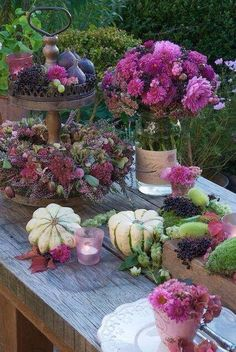 Herbst is the German word for autumn or fall. Herbst may also refer to: Fruits Decoration, Decoration Plante, Decoration Table, Centerpiece Ideas, Centerpieces, Outdoor Thanksgiving, Thanksgiving Decorations, Deco Nature, Autumn Table