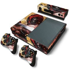 From HelloDefiance.com  http://www.hellodefiance.com/products/deadpool-onslaught-skin-xbox-one-protector?utm_campaign=social_autopilot&utm_source=pin&utm_medium=pin