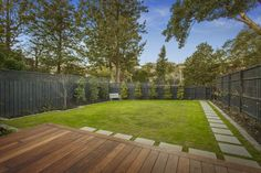 Landscaping Contemporary Weatherboard Home on a sloping block.