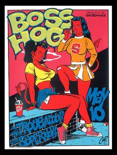 Coop Boss Hog Silkscreen Concert Poster 1996 Signed Mint Sexy Devil School Girls | eBay