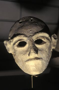 Hittite Death Mask Found In A Grave Location Tel Hatzor Archaeological Museum Israel