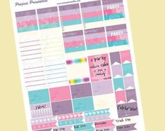 Printable Planner Stickers PDF // Celebration Mini Set // Perfect for Erin Condren Planners