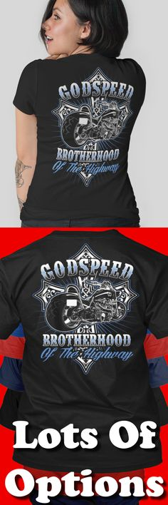 Biker Shirt: Riding On Godspeed? Great Motorcycle Gift! Lots Of Sizes & Colors. Like Custom Motorcycles, Baggers, Choppers, Harley Davidson Bikes or the Biker Life? Strict Limit Of 5 Shirts! Treat Yourself & Click Now! https://teespring.com/DR74-425