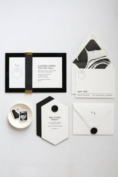 FEATURE // Pick up a copy of the Knot to see more of this modern shagreen invitation suite created for an event by Gold Leaf Events. Black Wedding Invitations, Wedding Stationary, Wedding Invitation Cards, Wedding Cards, Diy Wedding, Wedding Black, Luxury Wedding, Letterpress Invitations, Invitation Card Design