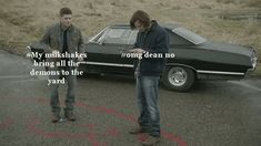 The plot of #Supernatural as described by someone who's never seen the show.   Still somehow startlingly accurate. And funny.