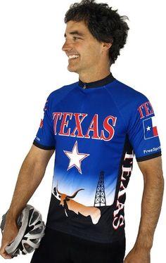 f25a2f9a9 Texas Short Sleeve Cycling Jersey - Small Spirit Wear