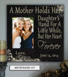 """MOTH/HAND:12x12"""" Holds 5x7"""" Photo Mother in Law, Mom, Mothers Day Frame, Personalized Photo Frame, Wedding Gifts for Parents, Gift for Mom Trendy Wedding, Perfect Wedding, Our Wedding, Dream Wedding, Wedding Ideas, Wedding Hacks, Wedding Gifts For Parents, Gifts For Wedding Party, Wedding Favors"""