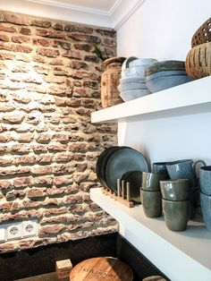 kitchen ideas – New Ideas Brick Wall Kitchen, New Kitchen, Kitchen Decor, Kitchen Design, Kitchen Ideas, Interior Blogs, Dancing In The Kitchen, Stone Backsplash, Home Decor Trends