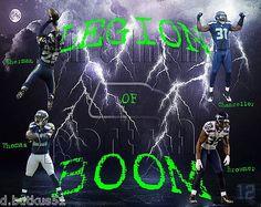 Seattle Seahawks Legion of Boom Custom 8x10 Photo Earl Thomas, Richard Sherman